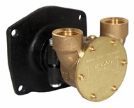 "¾"" bronze pump, <b>40-size</b>, flange-mounted with NPT threaded ports"